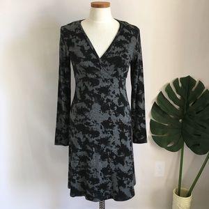 Karen Kane sweater dress black and grey